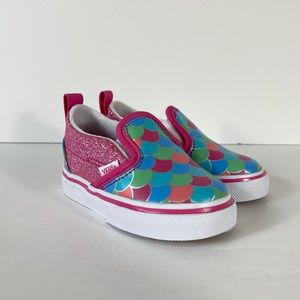 Vans Slip-On V Mermaid Scales Glitter Sneakers